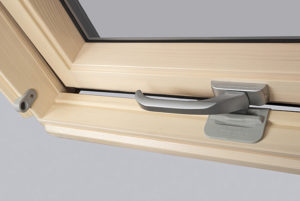 dřevěné okno detail