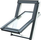 Nové plastové střešní okno  - <span>PVC STANDARD</span><br>